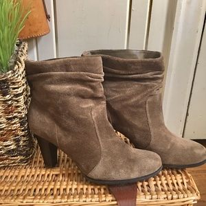 BCBG Suede Booties - 9 brown suede , worn once